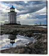 Bug Light Clouds And Reflection Canvas Print