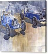Bugatti 51 Alfa Romeo 8c 1933 Monaco Gp Canvas Print