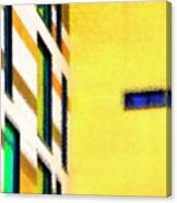 Building Block - Yellow Canvas Print