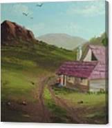 Buildings In Landscape Canvas Print