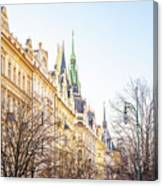 Buildings In Prague Canvas Print