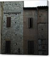 Buildings On A Side Street In Siena Canvas Print