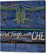 Built Ford Tough With Chevy Stuff Canvas Print