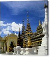 Built Structures Inside Shwezigon Pagoda Canvas Print