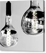 Bulbs - Black And White Canvas Print