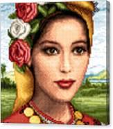 Bulgarian Beauty Canvas Print