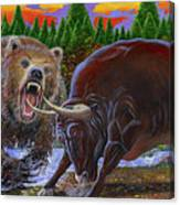 Bull And Bear Canvas Print
