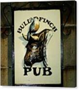 Bull And Finch Pub Canvas Print