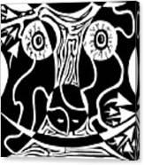 Bull Charging Rorschach Canvas Print