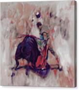 Bull Fight 009k Canvas Print
