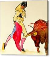 Bull Fighter Canvas Print