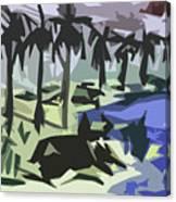 Bull-gaze Canvas Print