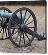 Bull Run Green Cannon In Field Canvas Print