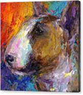 Bull Terrier Dog Painting Canvas Print