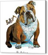 Bulldog Pop Art Canvas Print