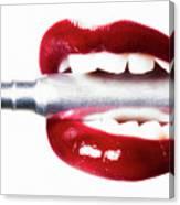 Bullet Lips Canvas Print