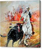 Bullfight 3 Canvas Print