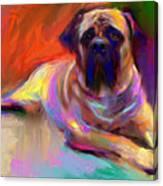 Bullmastiff Dog Painting Canvas Print