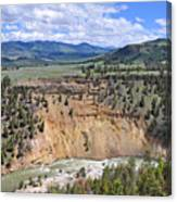 Bumpus Butte Yellowstone Canvas Print