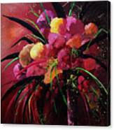 Bunch Of Red Flowers Canvas Print