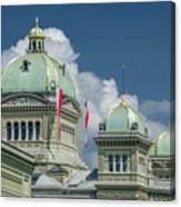 Bundeshaus The Federal Palace Canvas Print