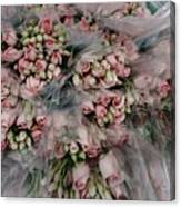 Bundles Of Pink Roses Are Gathered Canvas Print