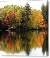 Bunganut Lake Maine Foliage 10 2016 Canvas Print