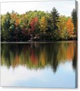 Bunganut Lake Maine Foliage 11 2016 Canvas Print