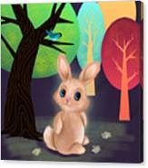 Bunny And Birdie Canvas Print