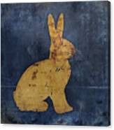 Bunny In Blue Canvas Print