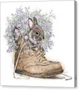 Bunny In Boot Canvas Print
