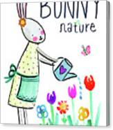 Bunny Nature Canvas Print