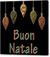 Buon Natale Italian Merry Christmas Canvas Print