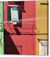 Burano Facade Canvas Print