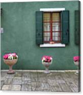 Burano Green Canvas Print