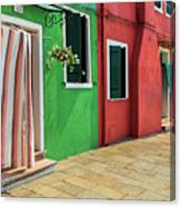 Burano Street Canvas Print