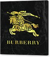 Burberry - Black And Gold - Lifestyle And Fashion Canvas Print