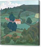 Burford Farm, Devon, 1918 Canvas Print