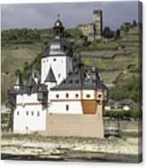 Burg Pfalzgrafenstein And Burg Gutenfals Squared Canvas Print