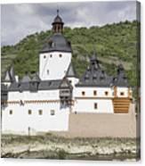 Burg Pfalzgrafenstein In Kaub Germany Canvas Print