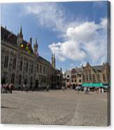 Burg Square In Bruges Belgium Canvas Print