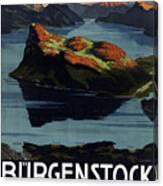 Burgenstock - Lake Lucerne - Switzerland - Retro Poster - Vintage Travel Advertising Poster Canvas Print