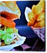 Burger And Fries Canvas Print