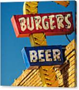 Burgers And Beer Canvas Print