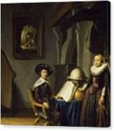 Burgomaster Hasselaar And His Wife Canvas Print