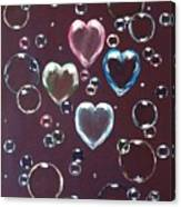 Burgundy Bubbles Canvas Print