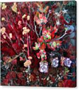 Burgundy Succulents. Multi Color Beauty Canvas Print