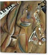 Burlap Sax Canvas Print
