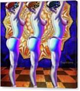 Burlesque Dancers Act One Canvas Print