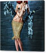 Burlesque Lady - Fine Art Of Bondage Canvas Print